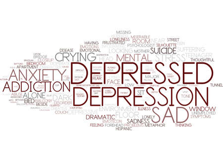 depressed word cloud concept