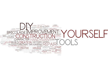 do-it-yourself word cloud concept