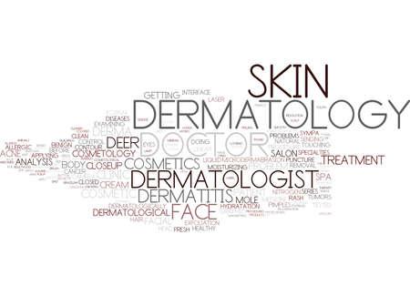 Dermatologie woord wolk concept