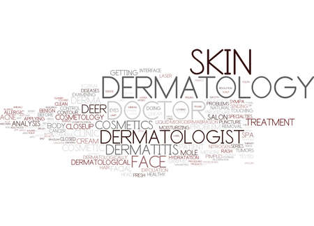 dermatology word cloud concept 版權商用圖片 - 83367297