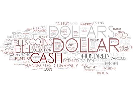 dollar word cloud concept