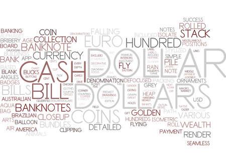 dollars word cloud concept