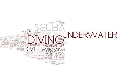 diving word cloud concept