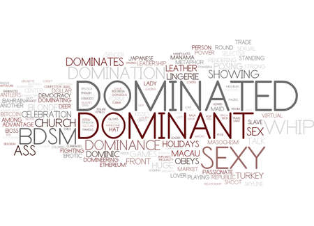 bdsm: dominated word cloud concept