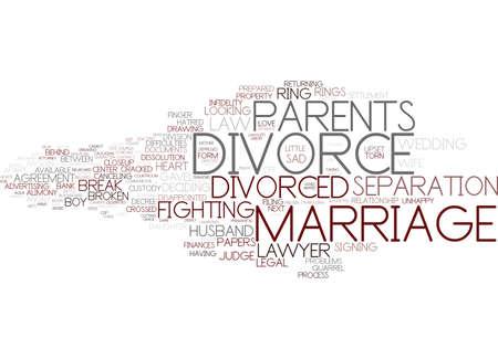 divorce word cloud concept Illustration