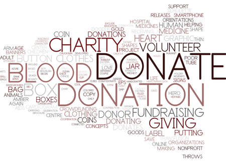donate word cloud concept Çizim