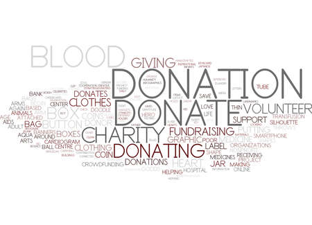 donating word cloud concept