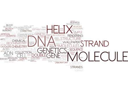 dna word cloud concept Çizim
