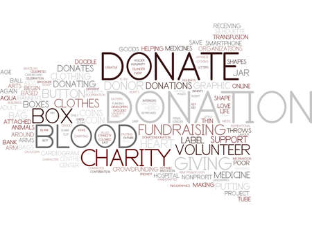 donation word cloud concept