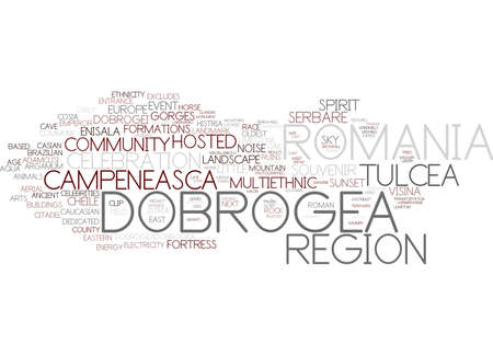 dobrogea word cloud concept