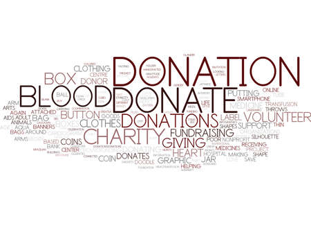 donations word cloud concept