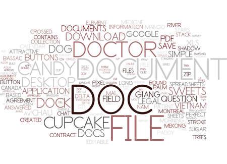 doc word cloud concept