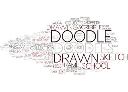 doodle word cloud concept Ilustração