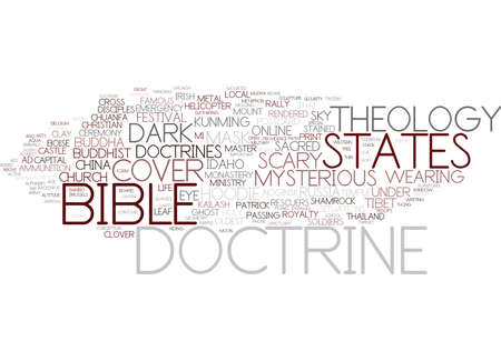 doctrine word cloud concept Stock Vector - 83367311