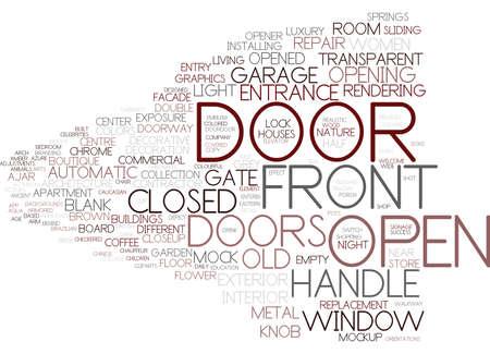 door word cloud concept Ilustração