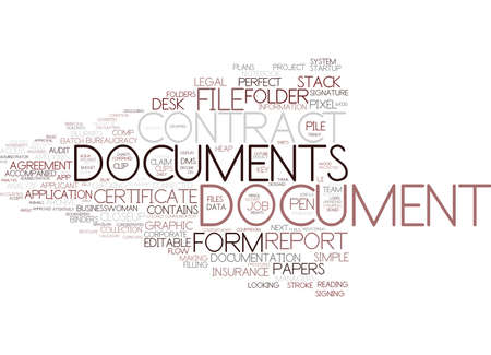 document word cloud concept Stock Vector - 83367313