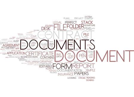 document word cloud concept