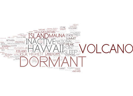 dormant word cloud concept Ilustrace