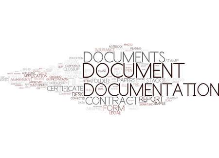 Documentatie woord wolk concept
