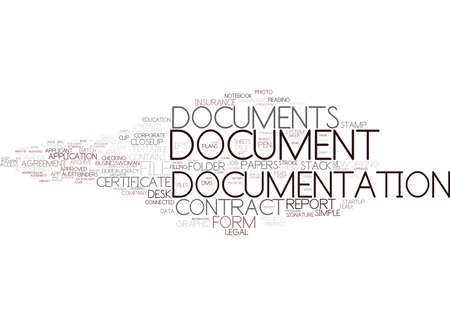 documentation word cloud concept Illustration