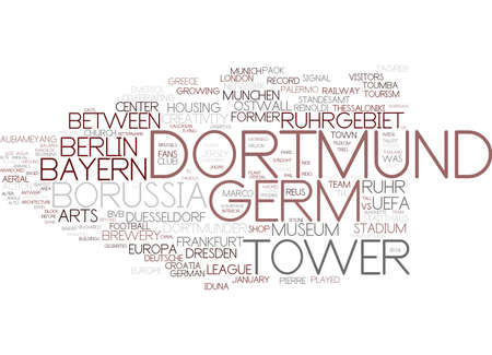 dortmund word cloud concept Çizim