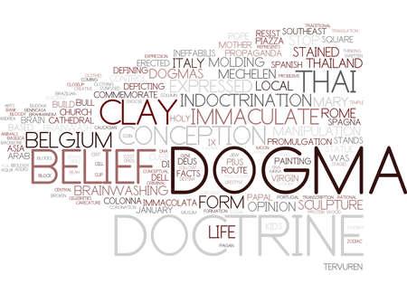 ドグマの単語の雲の概念  イラスト・ベクター素材