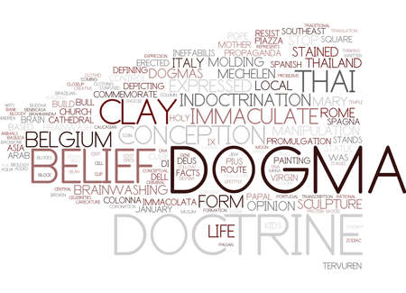 dogma word cloud concept