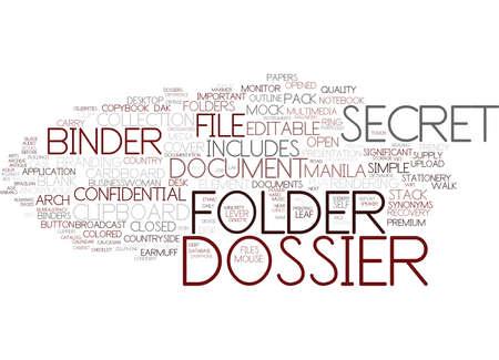 dossier word cloud concept