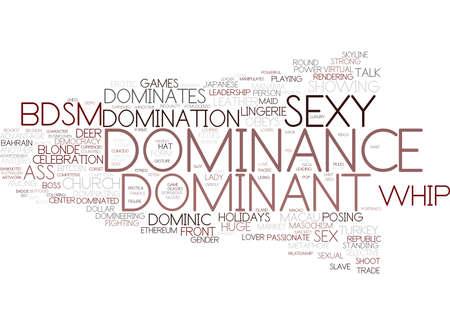 dominantie woord wolk concept