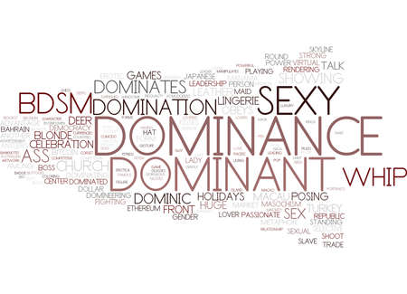 dominance word cloud concept Illustration