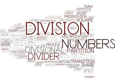 division word cloud concept