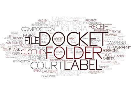 docket word cloud concept Çizim
