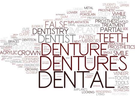 dentures word cloud concept
