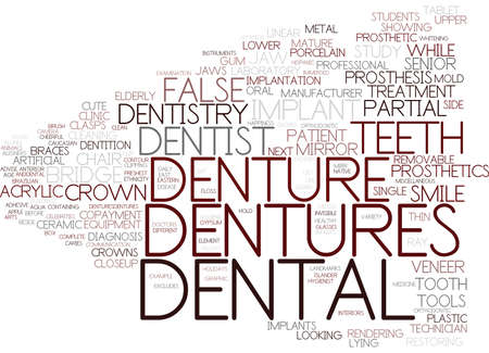 dentures word cloud concept