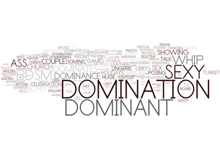domination word cloud concept