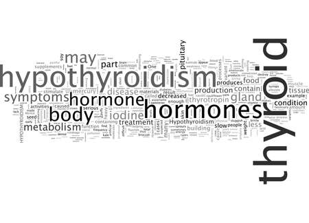 Informazioni sull'ipotiroidismo, un problema di salute comune Vettoriali