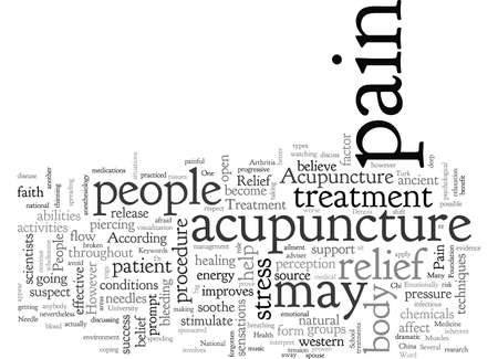 Acupuncture Ancient Needle Work as Pain Relief Treatment Illustration