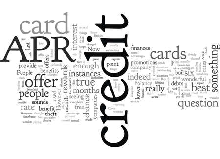 Advantages Of The APR Credit Card