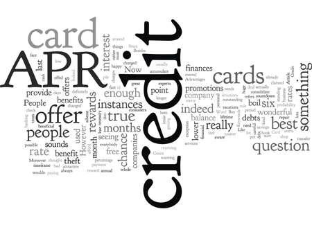 Vorteile der APR-Kreditkarte Vektorgrafik