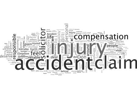 Accident Claim With A Specialist Solicitor 向量圖像