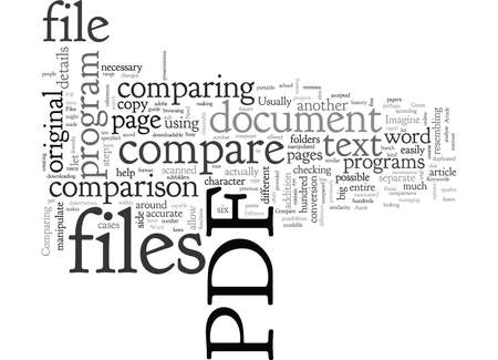 A Need To Compare Pdf Files