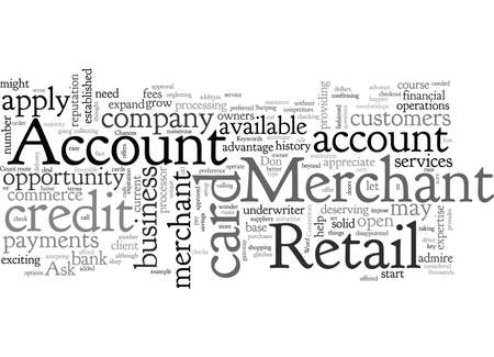 A Retail Merchant Account Ilustrace
