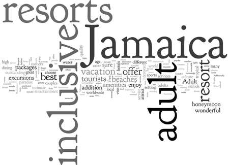Adult Inclusive Jamaica Resort The Ultimate Escapade For Adults 스톡 콘텐츠 - 132106855