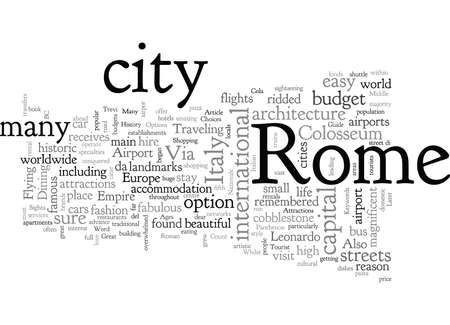 A Tourist Guide To Rome
