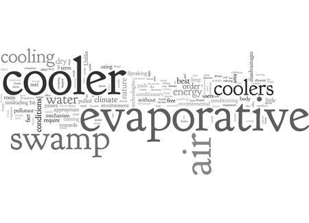 Advantages Of Portable Swamp Evaporative Coolers 向量圖像