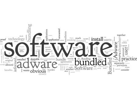 Adware And The Case Against Bundled Software 向量圖像
