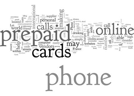 Ventaja de las tarjetas telefónicas prepagas Ilustración de vector