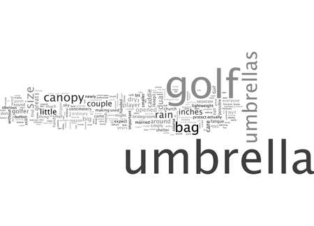 A Golf Umbrella Great On Weddings Stock Illustratie