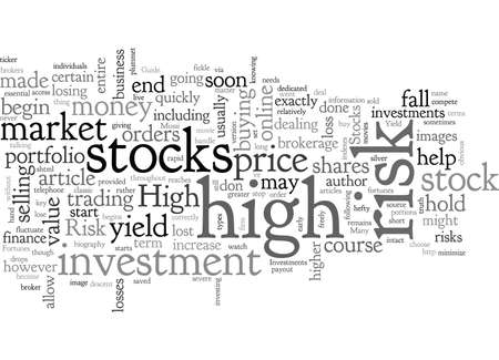 A Guide to High Yield High Risk Stocks Ilustração