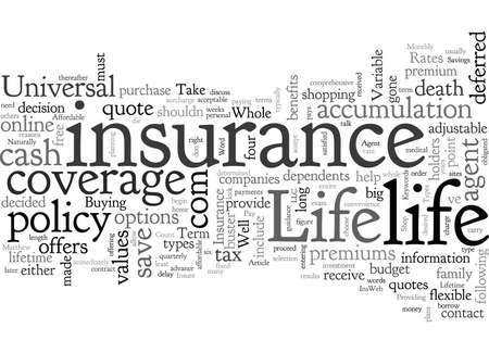 Affordable Life Insurance 일러스트